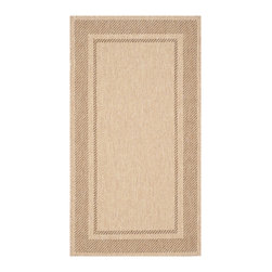 Martha Stewart - Martha Stewart Color Frame Sand/ Coffee Indoor/ Outdoor Rug (2'7 x 5') - The elaborate double border of Color Frame makes it ideal for use under dining tables or to outline seating arrangements.