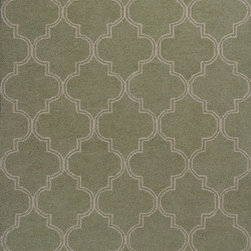 KAS - KAS Mercer 6722 Quatrefoil (Sage, Beige) 5' x 7' Rug - This Hand Hooked rug would make a great addition to any room in the house. The plush feel and durability of this rug will make it a must for your home. Free Shipping - Quick Delivery - Satisfaction Guaranteed