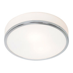 Access Lighting - Aero 20670 - LED Flush-Mount | Access - Access Lighting Aero 20670-CH/OPL Flush-Mount Fixture features frosted shade and chrome hardware finish. Manufacturer: Access LightingSize: 4 in. height x 10 in. diameter x 4 in. depthLight Source Options: 1 x 75W E-26 (Medium Base) or CFL/LED equivalent - not included1 x 26W GU-24 Spiral CFL [2700K color temp., 1710 lumens] - included1 x 10.8W LED Module [Kelvin 3000K, Lumens 1265Lm] - includedLocation:�_DampCertifications: CETL
