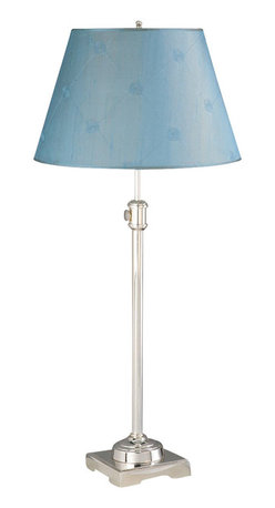 Laura Ashley - Laura Ashley TST220 State Street Adjustable Table Lamp Shiny Silver - Laura Ashley TST220 State Street Adjustable Table Lamp Shiny Silver