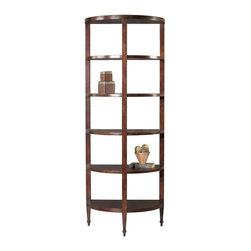 EuroLux Home - New Half-Moon Bookshelf Cherry Veneer 5 - Product Details