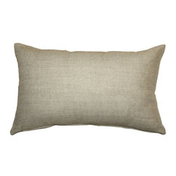 Pillow Decor - Pillow Decor Tuscany Linen Natural Throw Pillow - The Tuscany Linen Throw pillows are 100% linen with a soft natural linen touch and texture. Available in a range of colors and sizes, these linen pillows are ideal solid color accent pillows for your bed or sofa. Mix and match to complement other accent colors in your home.