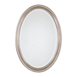 Uttermost - Petite Manhattan Oval Beveled Mirror - Uttermost 08646 B Petite Manhattan Oval Champagne SilverU MirrorDelicate oval frame features a hand-laid silver leaf finish. Perfect for today's bathrooms and foyers.Features: