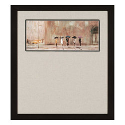 Paragon - Waiting for a Cab - Framed Art - Each product is custom made upon order so there might be small variations from the picture displayed. No two pieces are exactly alike.