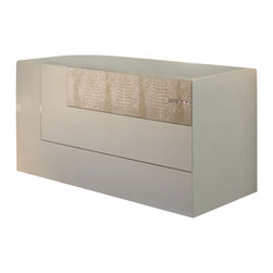 Rossetto - Rossetto Diamond Dresser in Ivory - Rossetto - Dressers - T26640N200154 - The dresser does not only add great appeal, but also original design. The three spacious drawers, which are an interesting alternative to usual linear shapes, and the structure of its top with raised edge that introduces a new opening system.