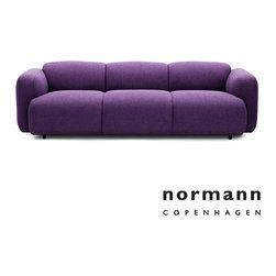 Normann Copenhagen Swell Sofa 3-Seater Purple - Normann Copenhagen Swell Sofa 3-Seater Purple