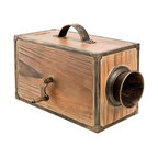 """Wooden Fog Horn Box - The wooden fog horn box measures 7.8"""" x 5"""" x 5"""". This wooden fog horn box has a metal handle on top of the box that makes it very easy to transport. It is made for decorative purposes only. The fog horn is not functional. It will add a definite nautical touch to wherever it is placed and is a must have for those who appreciate high quality nautical decor. It makes a great gift, impressive decoration and will be admired by all those who love the sea."""