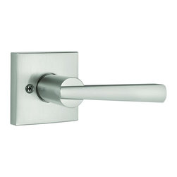 Baldwin Hardware - Prestige Spyglass Dummy Lever in Satin Nickel (351Spl Sqr 15 Cp) - Baldwin is taking door hardware to the next level. Our new Spyglass family offers affordable luxury with effortless style. The contemporary inspired lever and square raised offer transitional style with a clean aesthetic and modern lines.