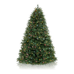 Balsam Hill - 6.5' BH Fraser Fir Artificial Christmas Tree - Multi Easy Plug - Majestic and elegant, the 6.5 feet BH Fraser Fir showcases real-looking green foliage with silver undertones. Draped with multi-colored lights, this artificial Christmas tree instantly brightens up rooms with its gorgeous design. Balsam Hill�s mission is to create the world�s most beautiful and realistic artificial Christmas trees.� We are committed to providing our customers with a picture-perfect holiday.� With innovations like hinged branches and options like remote-controlled pre-strung lights, our luxurious trees will let you sit back and enjoy Christmas to the fullest, this year and for years to come.� Our trees are designed using branches from real trees, and our exclusive True Needle technology creates the most realistic looking and feeling branch tips.� You and your guests may not believe that your gorgeous Balsam Hill Christmas tree is artificial. Balsam Hill�s trees have won awards for their realism and have been featured in movies, television shows, and celebrity homes.� Our wide range of styles and sizes ensures you will be able to find a tree that fits perfectly in your home.� We also have a range of beautiful wreaths and garlands to put the finishing touches on your home this holiday season.