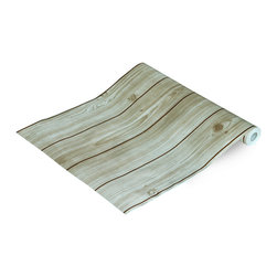Blancho Bedding - Concise Wood Grain - Self-Adhesive Wallpaper Home Decor Roll - Wallpaper can transform a room quickly and easily. You can wallpaper all walls, the ceiling or create a large over scaled piece of artwork by framing it. It would be perfect for nearly any room in the house: your living room, bedroom, bathroom, etc. The wallpaper are made of a high quality, waterproof, and durable vinyl and will stick to any smooth surface. It can be washed with gentle pressure and a soft damp cloth Strippable. You can add your own unique style in minutes! This wallpaper is a perfect gift for friend or family who enjoy decorating their homes.