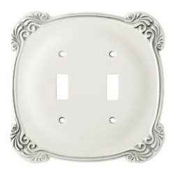 Liberty Hardware - Liberty Hardware 144386 Arboresque WP Collection 5.57 Inch Switch Plate - White - A simple change can make a huge impact on the look and feel of any room. Change out your old wall plates and give any room a brand new feel. Experience the look of a quality Liberty Hardware wall plate. Width - 5.57 Inch, Height - 5.41 Inch, Projection - 0.24 Inch, Finish - White Antique, Weight - 0.6 Lbs.