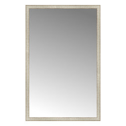 """Posters 2 Prints, LLC - 42"""" x 65"""" Libretto Antique Silver Custom Framed Mirror - 42"""" x 65"""" Custom Framed Mirror made by Posters 2 Prints. Standard glass with unrivaled selection of crafted mirror frames.  Protected with category II safety backing to keep glass fragments together should the mirror be accidentally broken.  Safe arrival guaranteed.  Made in the United States of America"""