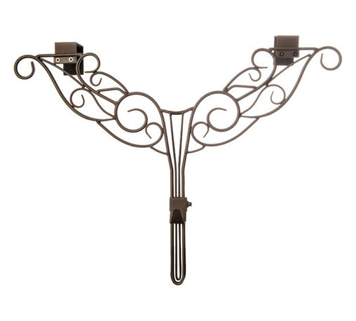 village Lighting - Antler Adjustable Wreath Hanger - Have a beautiful wreath and want to showcase it against your door? Why not add an elegant and festive wreath hanger. The unique double top hanging bracket design offers extra strength and a stunning unique design. The hanger is also adjustable to suit your door style: whether your door has a window or decorative molding on the front or just recessed decorative trim, the adjustable wreath hanger is the perfect solution. Each hanger is designed to hold your treasured wreath without causing damage to your door. The classic design is scrolled in sturdy, durable iron and will hold up for years to come. A perfect companion to the Garland Hanger!