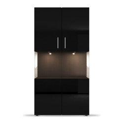 Figaro 2-Door Side Board with Glass Showcase -