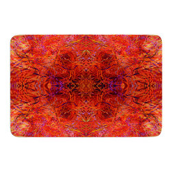 "KESS InHouse - Nikposium ""Sedona"" Orange red Memory Foam Bath Mat (24"" x 36"") - These super absorbent bath mats will add comfort and style to your bathroom. These memory foam mats will feel like you are in a spa every time you step out of the shower. Available in two sizes, 17"" x 24"" and 24"" x 36"", with a .5"" thickness and non skid backing, these will fit every style of bathroom. Add comfort like never before in front of your vanity, sink, bathtub, shower or even laundry room. Machine wash cold, gentle cycle, tumble dry low or lay flat to dry. Printed on single side."