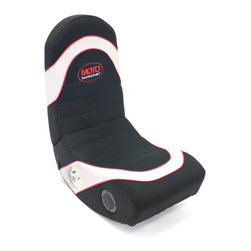 Lumisource - Moto BoomChair Video Game Seat - Connects to video game systems, mp3 players, TVs. Two stereo speakers. Folds for storage. Color: Black, red, white. Material: Wood, Fabric, foam padding. Assembly Required. Dimensions: 31 in. L x 15 in. W x 31 in. H ( 27 lbs. )Surround yourself in the video games, music, and movies you love with the MOTO BoomChair! Features a pair of 3 inch 2-way speakers, rugged canvas surface with padded comfort zones. Adjustable volume. Folds for convenient storage. Easily hooks up to any video game system, DVD or CD player, or any portable MP3 device.