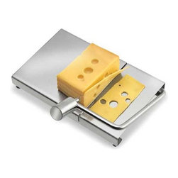 Blomus - FROMA Cheese Slicer - Any way you slice it, cheese reigns at the dinner table. You can slice your favorite cheese with ease just by a simple pull of a handle. The wire will glide through your block of cheese effortlessly, so you'll have less mess to clean. Includes 2 replacement wires.