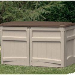 Suncast - Suncast 4.5 x 2 ft. Tool Shed - GS1000 - Shop for Sheds and Storage from Hayneedle.com! Dimensions:Exterior dimensions: 4.5W x 2.17D x 2.83H feetInterior dimensions: 4.17W x 1.83D x 2.5H feetDoor dimensions: 2.44W x 4.10H feet A handy outdoor accessory the Suncast 4.5 x 2 Foot Horizontal Storage Shed features built-in shelf supports and a lift-up lid with a prop rod that allows easy access to stored items. Perfect for storing your garden tools or keeping unsightly garbage cans out of sight this shed provides peace of mind with its lockable doors and lid. Constructed from sturdy resin this durable shed is weather resistant and designed to withstand the harshest elements while staying dry at all times. The neutral taupe color adds to its appeal. Tool-free assembly means that it will get to work just minutes after you take it out of the box.About Suncast CorporationSuncast is known for its high-quality low-maintenance storage products and accessories. Organize gardens back yards garages basements and more. Suncast's full line of products includes everything from storage lockers to sheds and bins. Suncast pieces are designed for low-maintenance worry-free performance that's versatile enough to suit your every need.