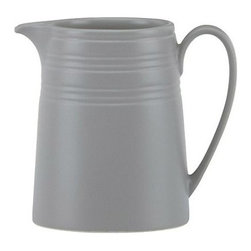 kate spade new york - kate spade new york Fair Harbor Oyster Creamer - Summertime in Nantucket and seaside breezes inspired our Fair Oyster Creamer by kate spade new york. Crafted of oyster-colored stoneware and detailed with sculpted rings, this casual creamer is a timeless collection.