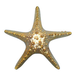 "Handcrafted Model Ships - Gold Plated Starfish Paperweight 8"" - Starfish Decoration - Handcrafted by our master artisans. This fabulous Gold Plated Starfish Paperweight 8 inch is the perfect addition to any desk -whether at home or in the office. Charmingly stylish, this starfish paperweight will hold your documents in place, and exude a decorative beach style for your work space or even on your coffee table. Make use of this beautiful weight and who your affinity for sea loving creatures!"