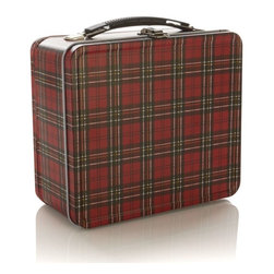Plaid Lunch Box - Lunch boxes don't have to be just for kids. A repurposed one like this plaid number can be used for storing so many items. If you don't need the storage, just think how cute it would be with the lid open holding some just-baked Christmas cookies.