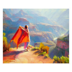 Steve Henderson Fine Art - Eyrie Artwork -- Original Oil Painting - Original oil painting on canvas. 30 inches high by 36 inches wide. Gallery wrapped -- no frame needed -- and ready to hang. This is the original oil painting of a licensed work.