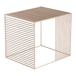 Iacoli & McAllister - Wire Table, Copper - Add a contemporary touch to any room in the house with this coated wire end table. Pick your favorite color and use it as a movable cocktail table or even as a bedside table. The look is light and airy and pairs easily with countless modern design styles.