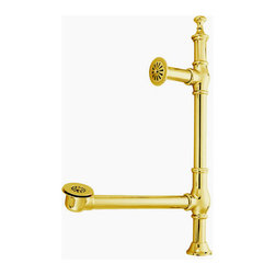 Kingston Brass - Clawfoot Tub Waste and Overflow Drain - This tub waste and overflow drain is constructed of high quality brass to ensure reliability and durability. Its premier finish resists tarnishing and corrosion.