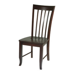Office Star - Office Star Wood Dining Side Chair in Merlot - Office Star - Dining Chairs - ME28 - The Merlot Chair glows with a traditional charm for your dining area. Distinguished by its turn-cut legs and flare-slatted back the Merlot has a very particular character.