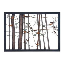 """Benzara - Classic Metal Wall Decor and Intricate Bird and Tree Motifs - Classic Metal Wall Decor and Intricate Bird and Tree Motifs. Exemplifying finesse and elegance, this elaborately designed metal wall decor will decorate your simple room settings. It comes and a following dimensions 39""""W x 2""""D x 27""""H."""