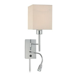 Kovacs - Kovacs P477-077 1 Light Wall Sconce with LED Reading Lamp from the George's Read - George Kovacs P477-077 Single Light Wall Light with LED Reading Lamp