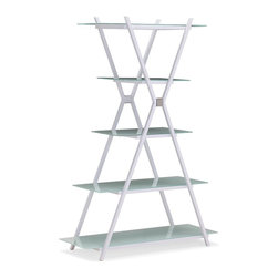 Zuo Modern - Zuo Modern Xert Modern Narrow Shelf X-502404 - Adapt the Xert narrow shelf for any atmosphere, a tight squeeze or even a focal point in large spaces. The gray with frosted glass or white with painted glass makes it easy for cleaning and matching any d&#233:cor.