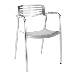 Fine Mod Imports - Aluminum Dining Chair - Features:
