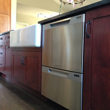 Eclectic Kitchen Cabinetry by Channel City Lumber
