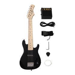 Berry Toys - Berry Toys 30 in. Electric Guitar Set - Black - MKAGT30-ST3-BLK - Shop for Toy Instruments from Hayneedle.com! With emerging new kids' albums by bands like They Might Be Giants and Chris Ballew of The Presidents of the United States of America parents find that they're no longer forced to endure the likes of Raffi and The Wiggles for hours on end; and your child's musical growth can be encouraged with the Berry Toys 30 in. Electric Guitar Set - Black. This sweet setup includes everything your child needs to get playing right away. As your child practices she or he will develop something more than just a better understanding of musical comprehension and appreciation. Early music education has in fact been linked to physical coordination as well as better lateral thinking. And as your child's competency grows a healthy self-confidence will soon follow along.Additional Features:5-watt amplifierShoulder strap: 1.5W in.3M cable cordPicks: 30mmPearl white guitar pegMachine heads: chrome openRegulator: Volume X11 single-coil pickup 1 out jackAbout Berry ToysBased in Chino Hills California Berry Toys is a leading manufacturer of children's toys. Berry Toys aims to educate children through play and their toy selection includes play kitchens play foods musical instruments play tools and more. If you want affordable pricing quality customer service and educational toys that are manufactured according to the highest standards Berry Toys can deliver.