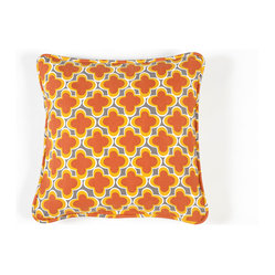 Working Class Studio - Marrakech Hostess Collection - Pillow - Charcoal - Pop this pillow into your favorite contemporary setting for a hit of bright color and bold design. The Moroccan-inspired motif makes a refreshing change from stripes and solids.