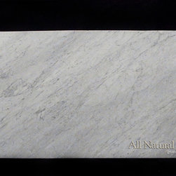 All Natural Stone - Bianco Carrara Marble Slab - Bianco Carrara Marble Slab. Perfect for Bathroom Counters.