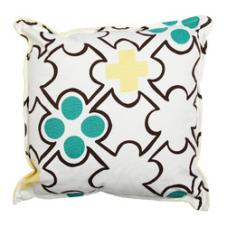 Working Class Studio - Sarah Outdoor Pillow - Ionian - Decor for your favorite outdoor space demands a playful, laid-back vibe. This pillow is perfect for the mix, with its pattern of unusual shapes and appealing splashes of color.