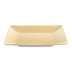 Elite Global Solutions - Banana Crepe Symmetry 13 1/2 Sq x 1 3/4 H Large Square Plate - Case of 3 - DescriptionsClassic proportions match up perfectly with any dish. Symmetry offers an aesthetically balanced platform for your culinary delights