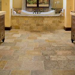 Stone Floors Antique 'Arcane Limestone' Reclaimed Tiles & Pavers - Ancient Surfaces