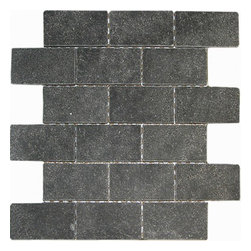 lava rock tumbled 2x4 Brick pattern stone mosaic - lava rock tumbled 2x4 stone brick pattern mosaic.
