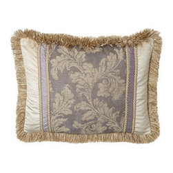 Dian Austin Couture Home - Dian Austin Couture Home Standard Pieced Sham - Named for their wisteria-inspired lavender palette, bed linens by Dian Austin Couture Home® feature scrolling acanthus leaves and an abundance of ruching. Made in the USA of silk dupioni and Italian-woven viscose/polyester/linen/silk. Dry clean. D...