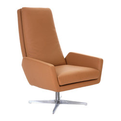 B&T Design - Lima Lounge Chair, Leather Furtuna - 436, High Back - Lima Lounge Chair