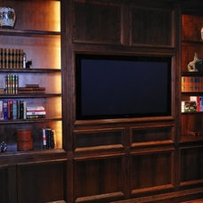 Traditional Home Office by MICHAEL MOLTHAN LUXURY HOMES