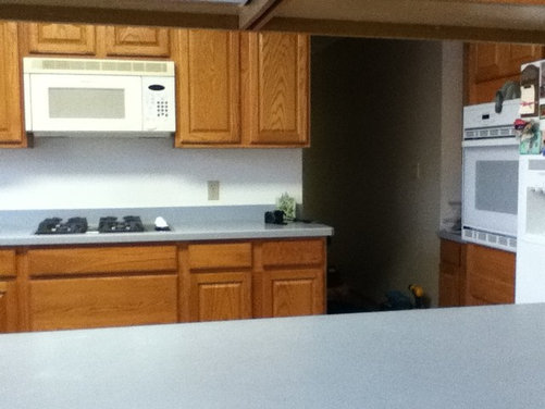 redoing kitchen without replacing countertops