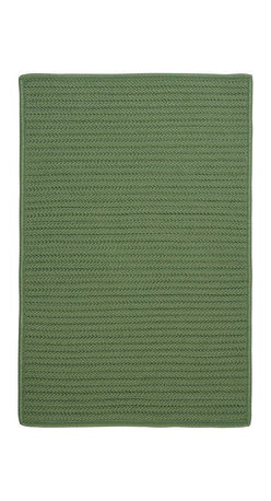 Colonial Mills - Colonial Mills Simply Home Solid H123 Moss Green Rug H123R144X180S 12x15 - Practical. Colorful. Versatile. Maintenance-free. Simply pick from 37 colors to find the perfect solid-color indoor/outdoor rug for your space.