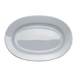 Alessi Dinnerware - Alessi Dinnerware PlateBowlCup Serving Plate - Oval - Oval serving plate. This is all you need to make a good everyday table setting. I have always admired Jasper for the coherence and modesty that he applies to his role as a designer, well aware, for example, of the fact that, in traditional household typologies, design evolution has nearly always developed by means of short steps. Today Jasper is one of the most respected designers on the international scene. PlateBowlCup bone china tableware and Glass Family glasses take their place alongside the KnifeForkSpoon cutlery (2005), thus forming the first complete Alessi tableware collection entry level in our catalogs. It gives me great pleasure to use the term entry level, which I consider a kind of title of merit. It is true that the price of these household objects is highly accessible, but this has not compromised the quality of design. Manufactured by Alessi. Designed in 2008.