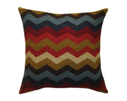 Land of Pillows - Waverly Panama Wave Gem Decorative Zig Zag Chevron Stripe Throw Pillow, 20x20 - Fabric Designer - Waverly