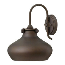 Hinkley Lighting - Hinkley Lighting 3178OZ Hinkley Lighting 3178AN Antique Nickel 1 Light Indoor Wa - Hinkley Lighting 3178 Congress Wall Sconce with Metal Shade Congress is a traditional design that combines both hip and historical elements. This chic