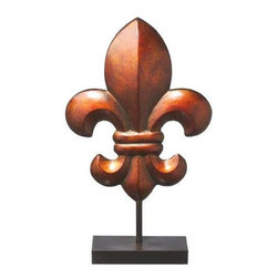 MIDWEST CBK - Large Fleur de Lis on Stand - Large Fleur de Lis on Stand. Shop home furnishings, decor, and accessories from Posh Urban Furnishings. Beautiful, stylish furniture and decor that will brighten your home instantly. Shop modern, traditional, vintage, and world designs.